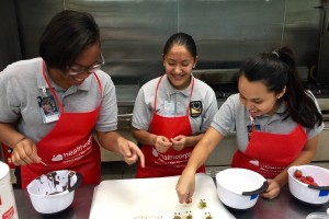 Megan Ling's students at a cooking club