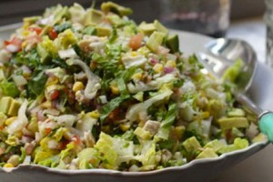 Leftover chicken chopped salad